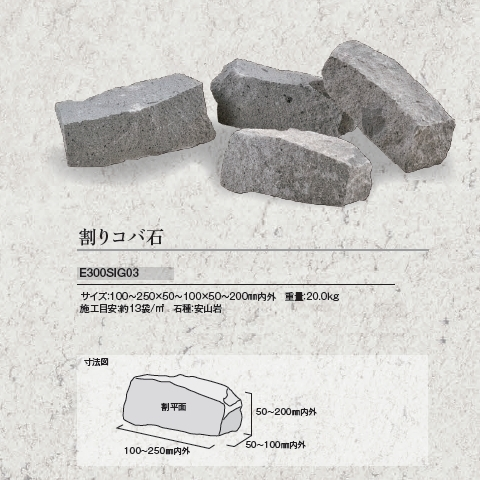 志賀石 割りコバ石