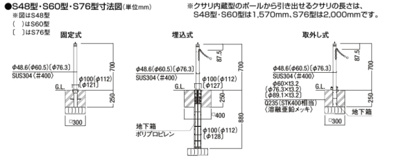 スペースガード(車止め)S型