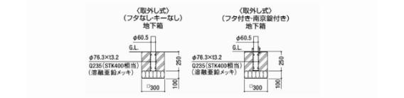 スペースガード(車止め)D60型