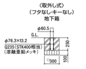スペースガード(車止め)C60型