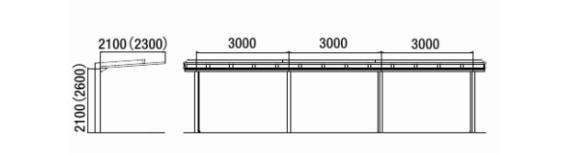 ハイブリッドルーフ HBR-HA-60_駐輪場仕様
