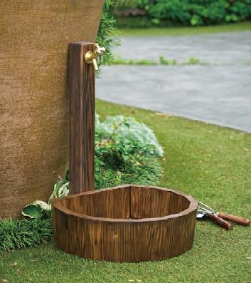 木彫水栓柱/木調水栓パン