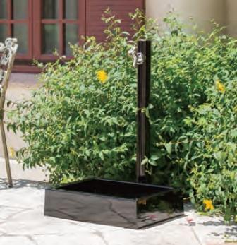 リラガ スクエアパン+丸形アルミ水栓柱