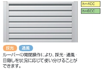 LALAスクリーン 5型(可動ルーバータイプ)
