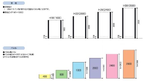 LALAスクリーン 10型(可動たて格子タイプ)