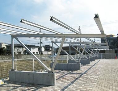 駐車場用架台 10台用設置例