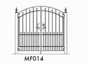 鍛麗工房 両開門扉 TAN-MF014