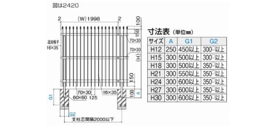 大型フェンス TAF4型 / /