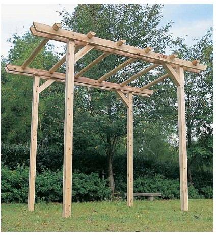 木製パーゴラ