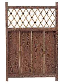 アルミ枠庭木戸