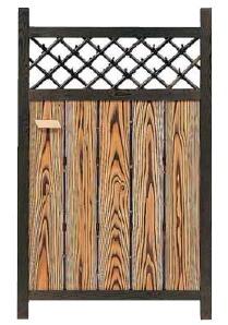 竹ランマ庭木戸