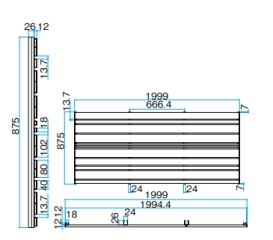 エバーアートウッドフェンス デザインユニット_ミックス