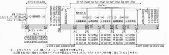 ジーポートneo たて(2)連棟セット/2台用・4台用/Bタイプ  /