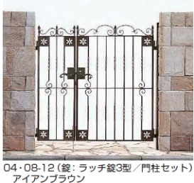 トラディシオン門扉3型 親子開き