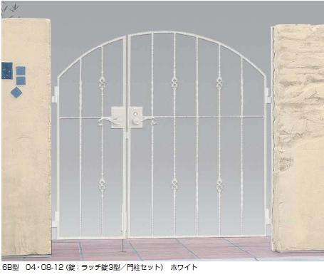 トラディシオン門扉6B型 親子開き
