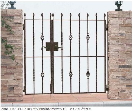 トラディシオン門扉7B型 親子開き