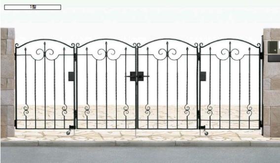 トラディシオン門扉1型・折戸セット