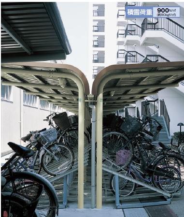 ヨド自転車置場 YOCF型背合せタイプ